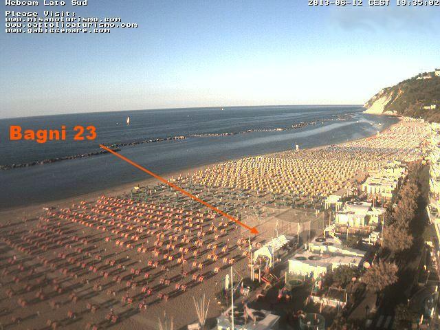 Webcam Spiaggia Gabicce - Spiaggia Gabicce Mare Bagni 23 Marisa